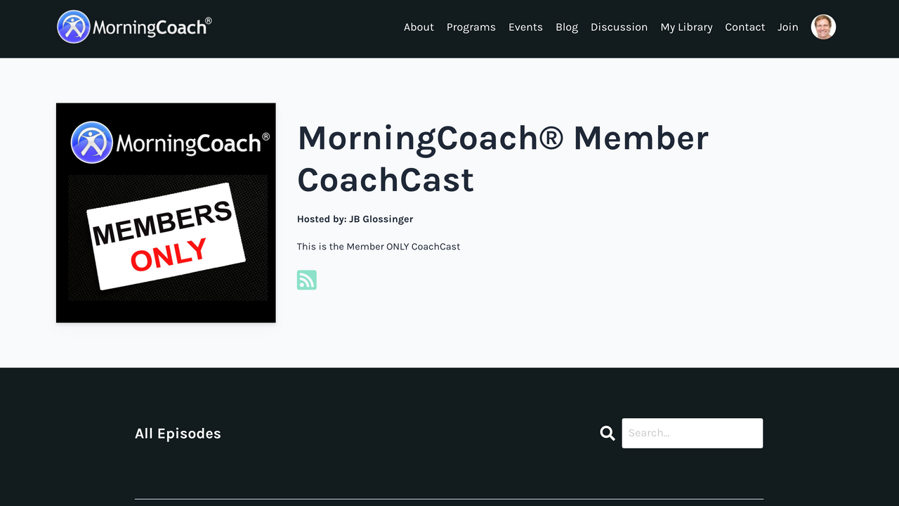 MorningCoach® Daily Online Coaching Podcast