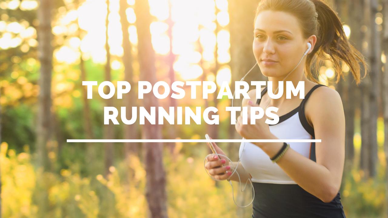 woman running postpartum