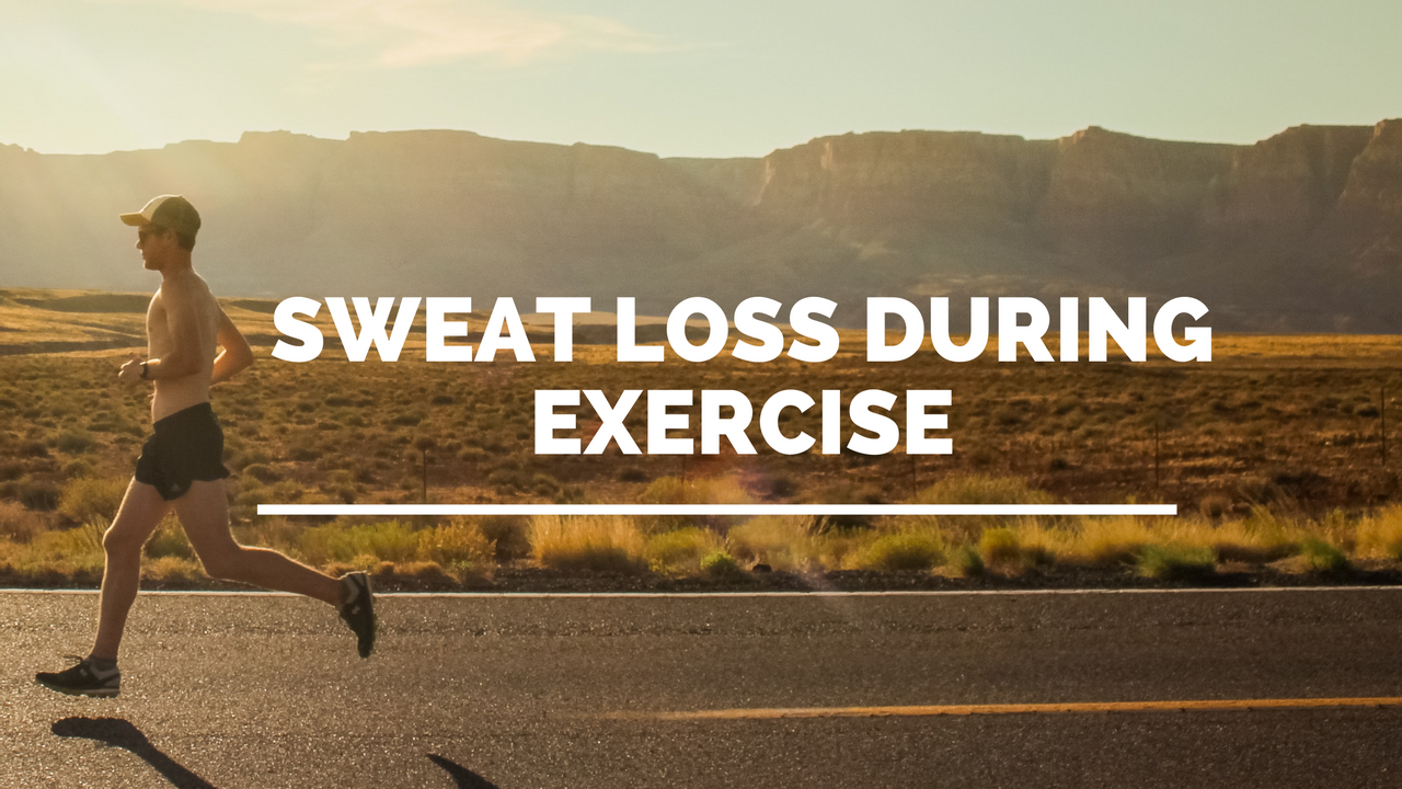 man running and experiencing sweat loss during exercise