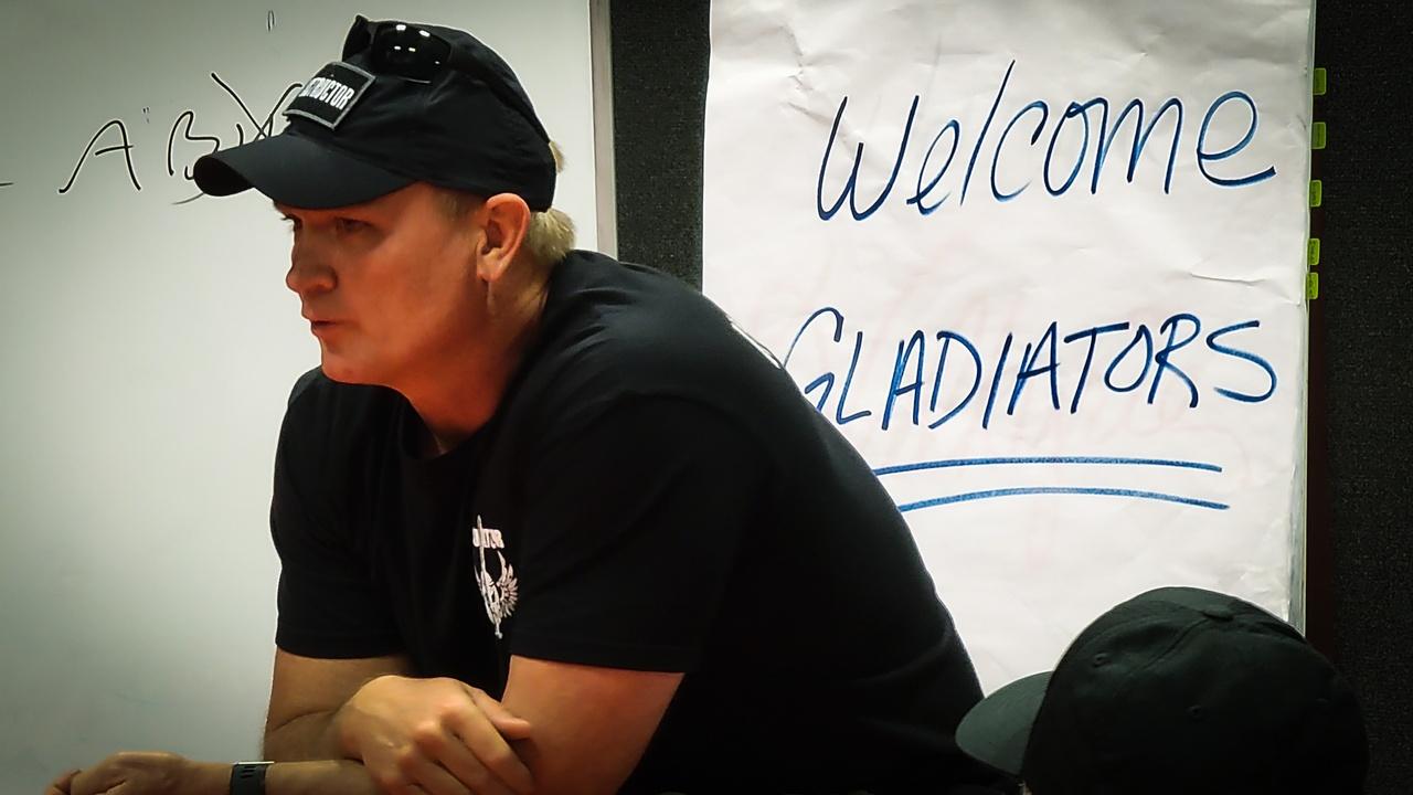 Dr. Tim teaching at his Gladiator course in Atlanta, TX.