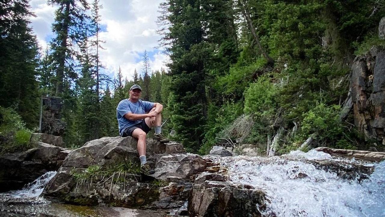 Dr. Tim enjoying a hike in Jackson, WY.