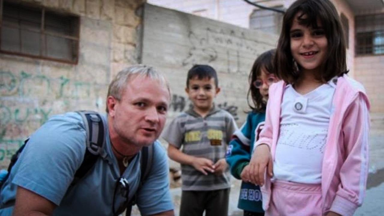 Dr. Tim visiting Hebron-West Bank.