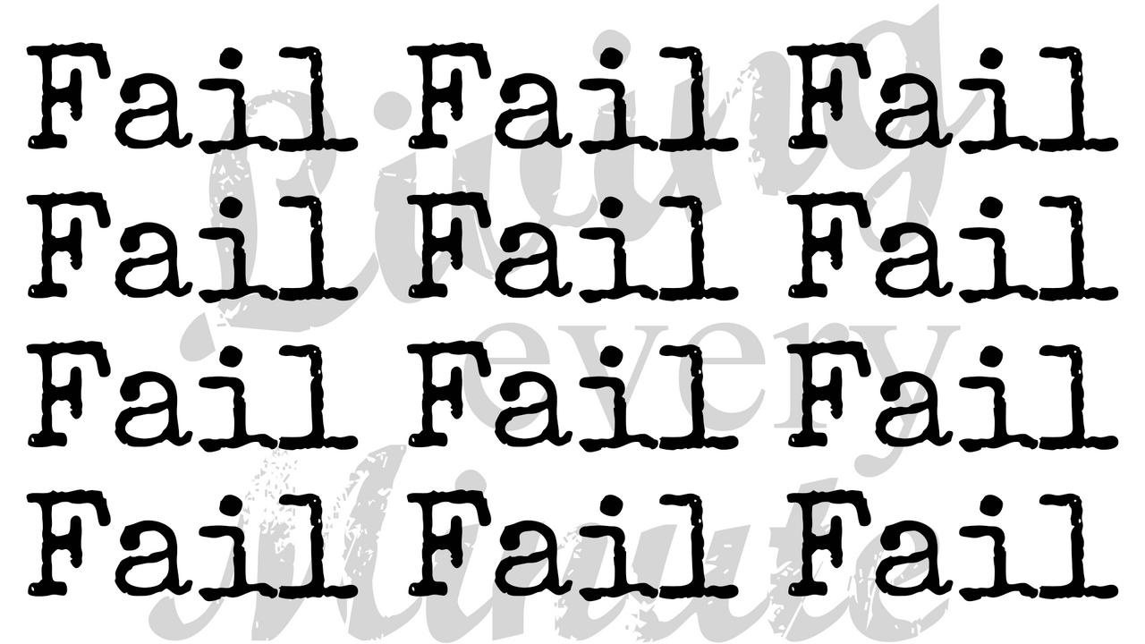 Keep failing to succeed.