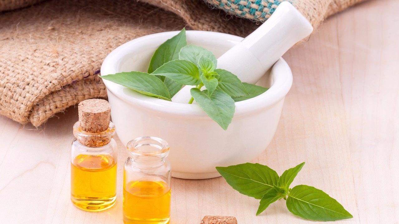 essential oils near herbs
