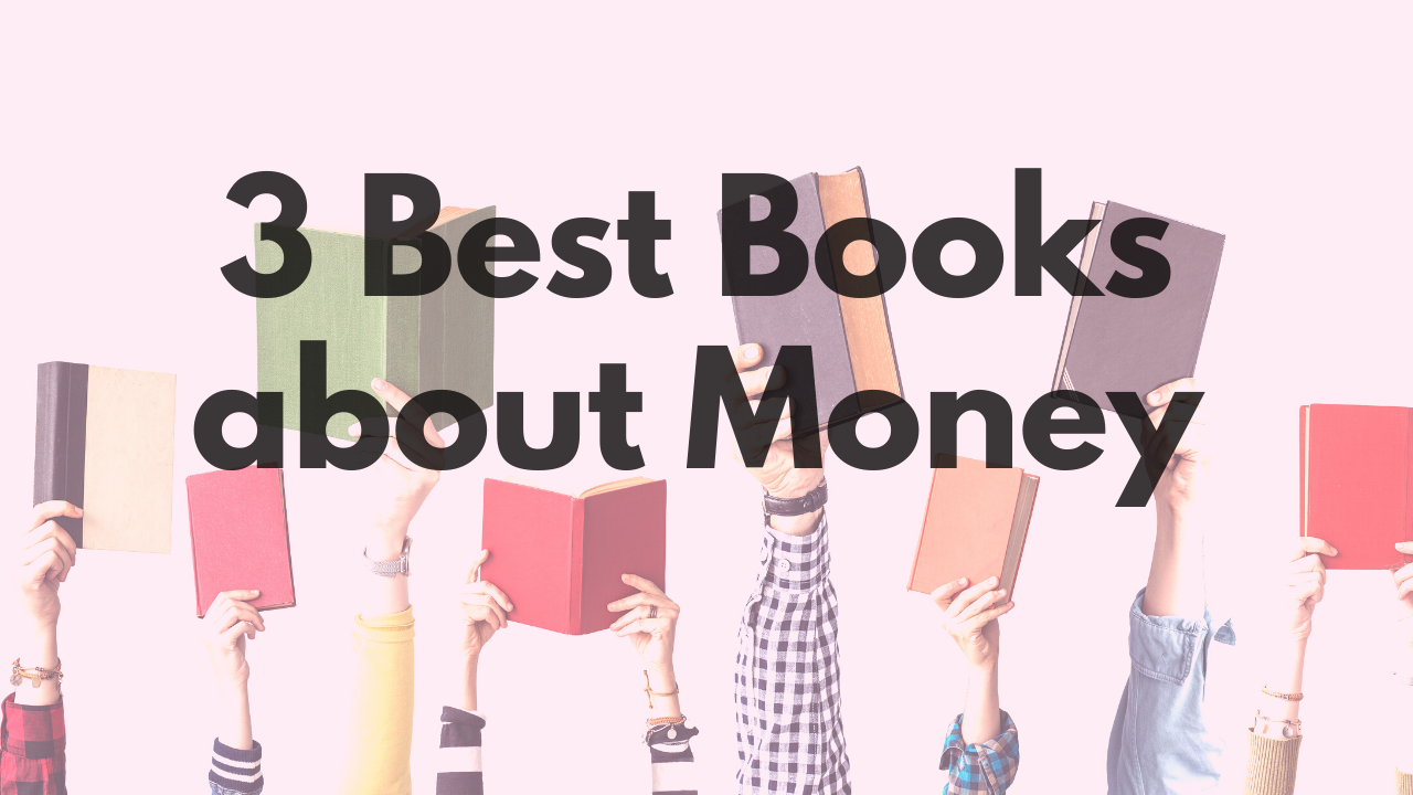 Blog post image for 3 best books about money with ten arms holding books in the air