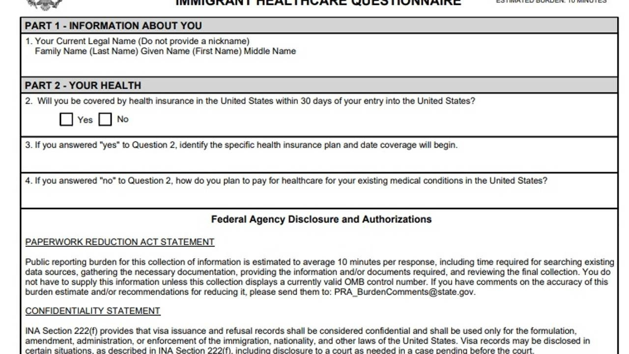 Immigrant Healthcare Questionaire