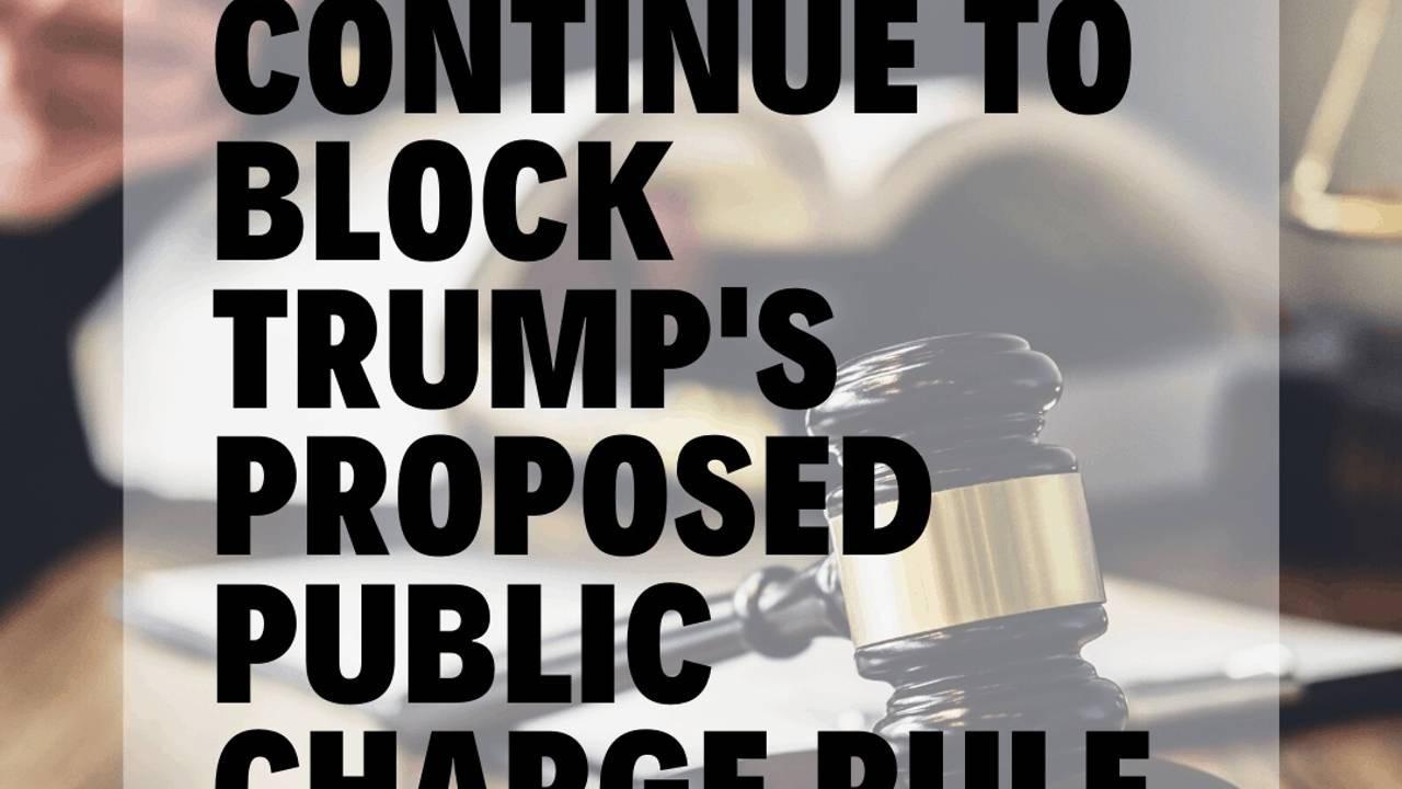 Passage Law_Courts Block Public Charge Rule
