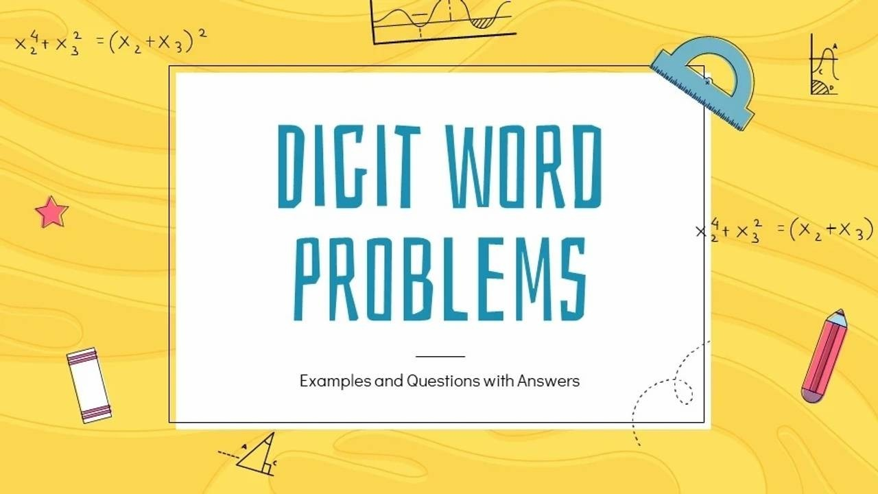 Digit Word Problems