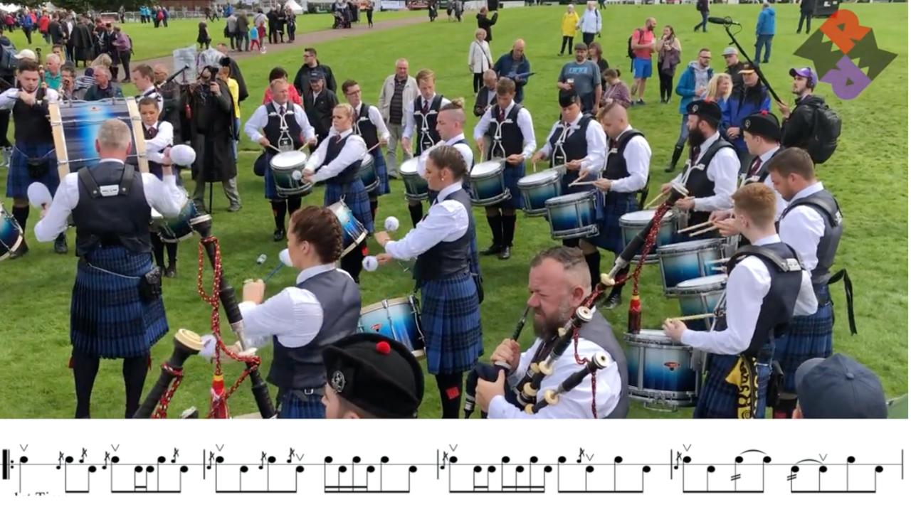 Johnstone Pipe Band Fri. Medley Reels WPBC 2019