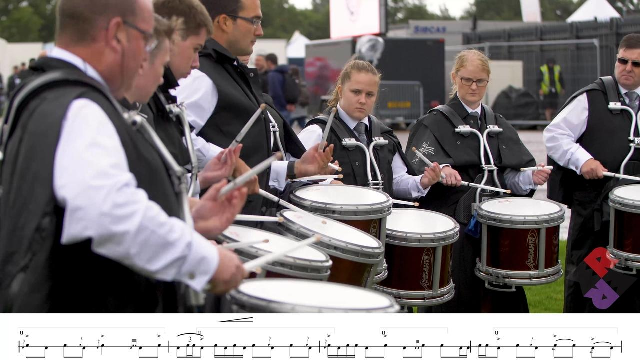 Buchan Pipe Band Drum Corps WPBC 2018