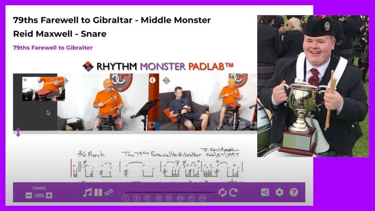 ScottishPower's Tam Barnes PadLab Demo w/ Reid Maxwell's Classic 79th Farewell to Gibraltar Score