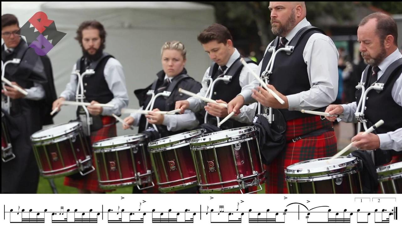 Manawatu Pipe Band Drum Corps MSR WPBC18