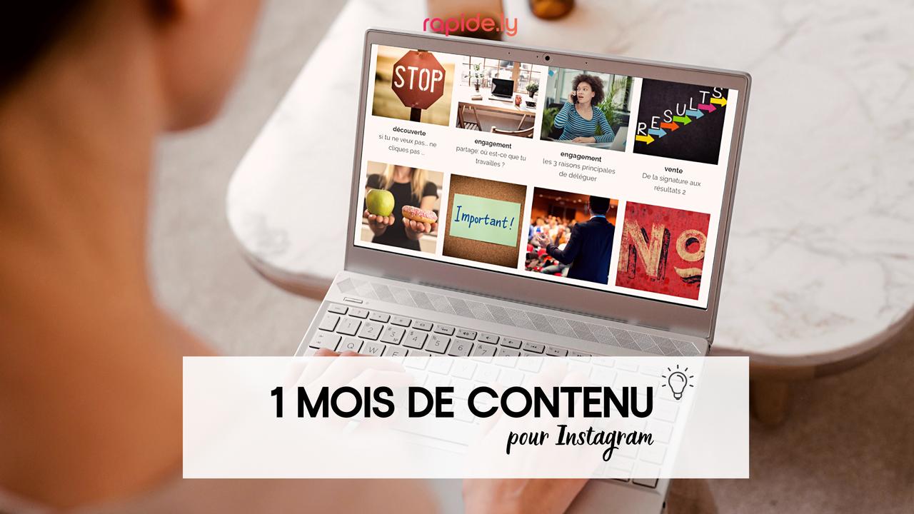 1 mois de contenu pour Instagram