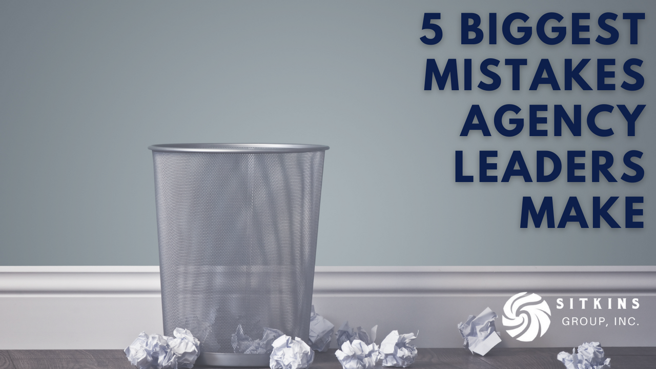 Mistakes thrown at a trash can in an agency office.