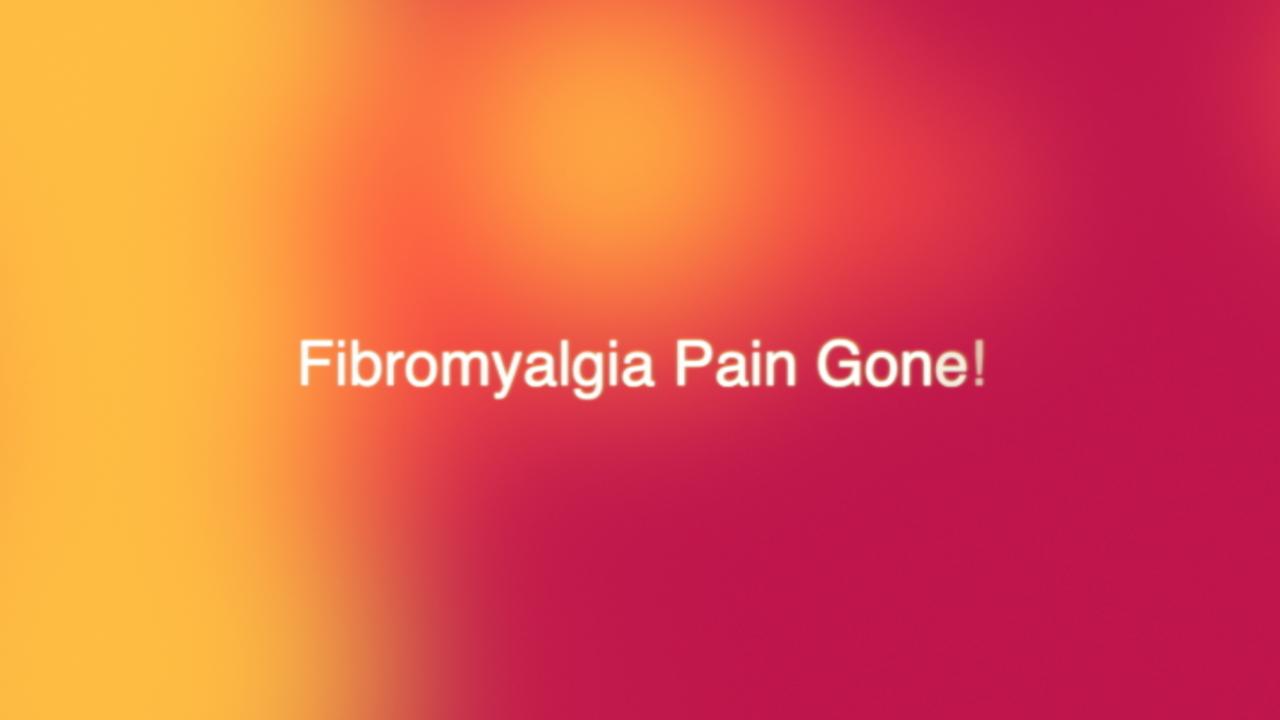 Fibromyalgia Pain Gone With Integral Sound Healing!