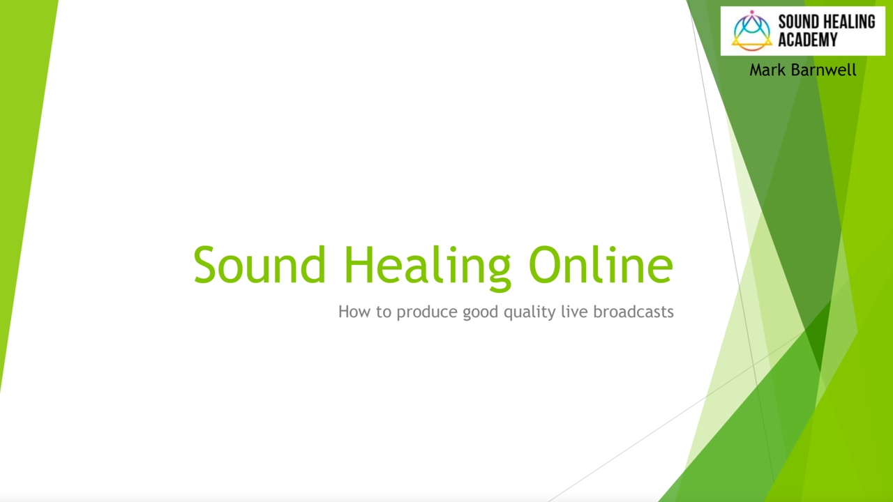 How to do Sound Healing online