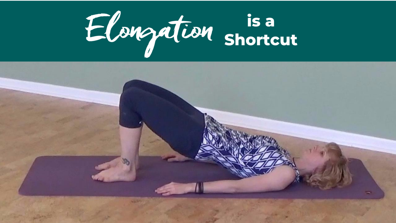 Elongation For Good Alignment using Bridge in Pilates