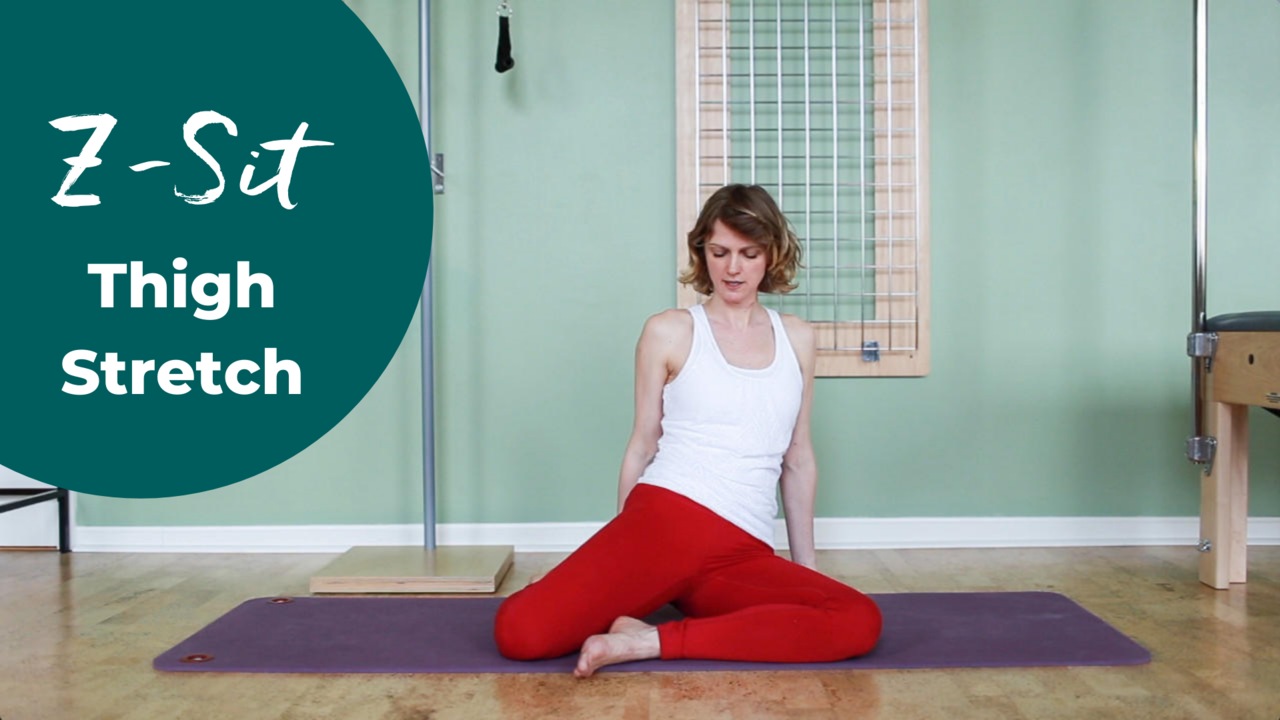 great hip stretch into external rotation in Pilates