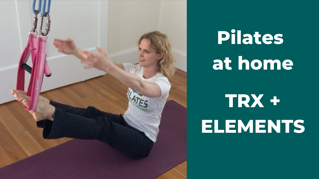 How to do Pilates at Home: TRX Substitute with ELEMENTS Loop and Roll