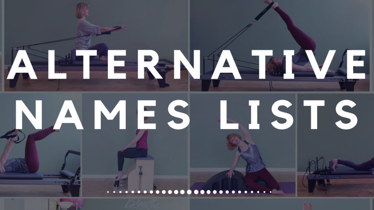 Alternative Pilates Exercise Names