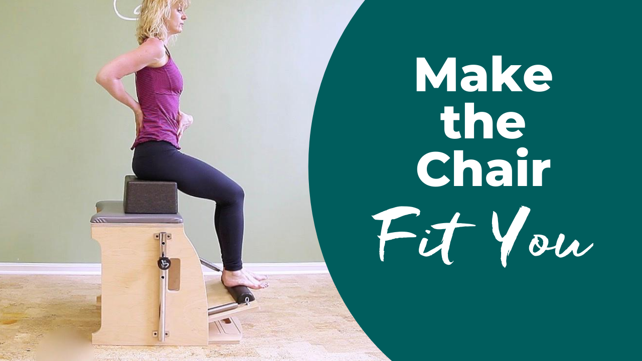 Footwork on the Chair to sagittal alignment during Pilates exercises