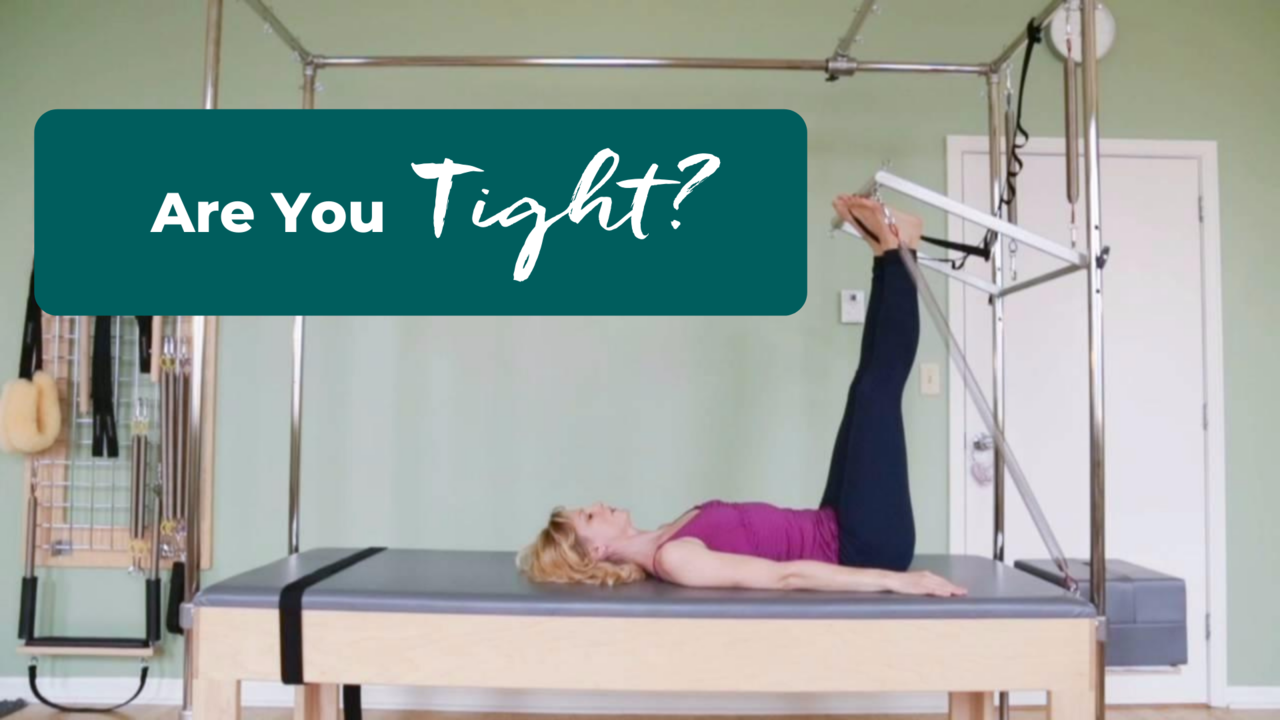 Pilates exercise to strengthen tight muscles