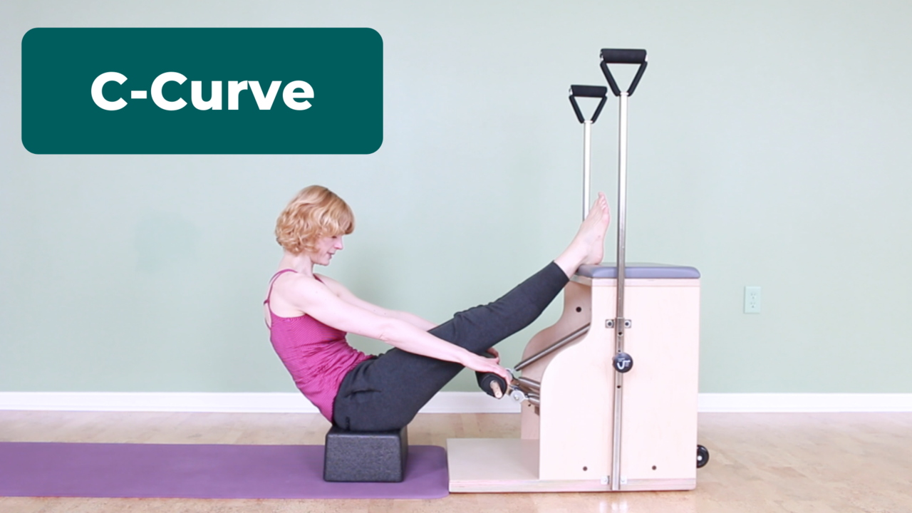 Pilates C-Curve exercise for Hyperkyphosis