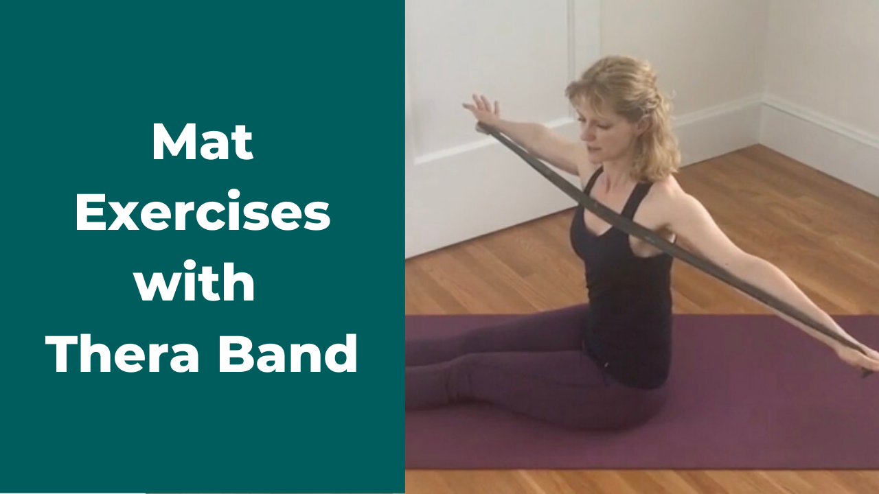 Pilates Mat Exercises with a Thera Band