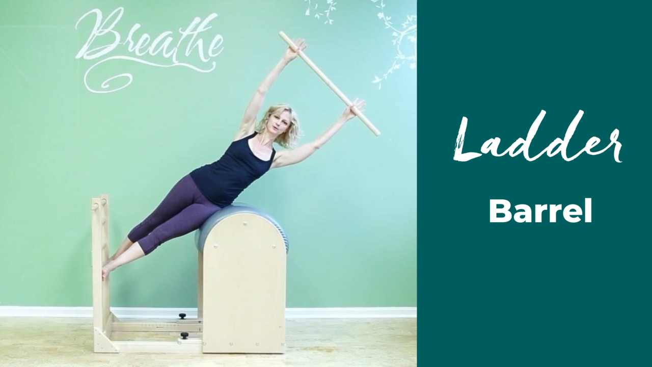 Ladder Barrel and Spine Corrector support spinal movement in Pilates