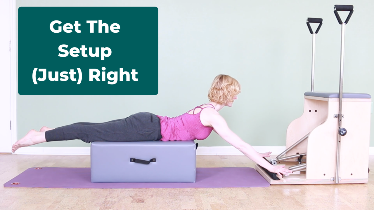 Get the setup right in Pilates exercises