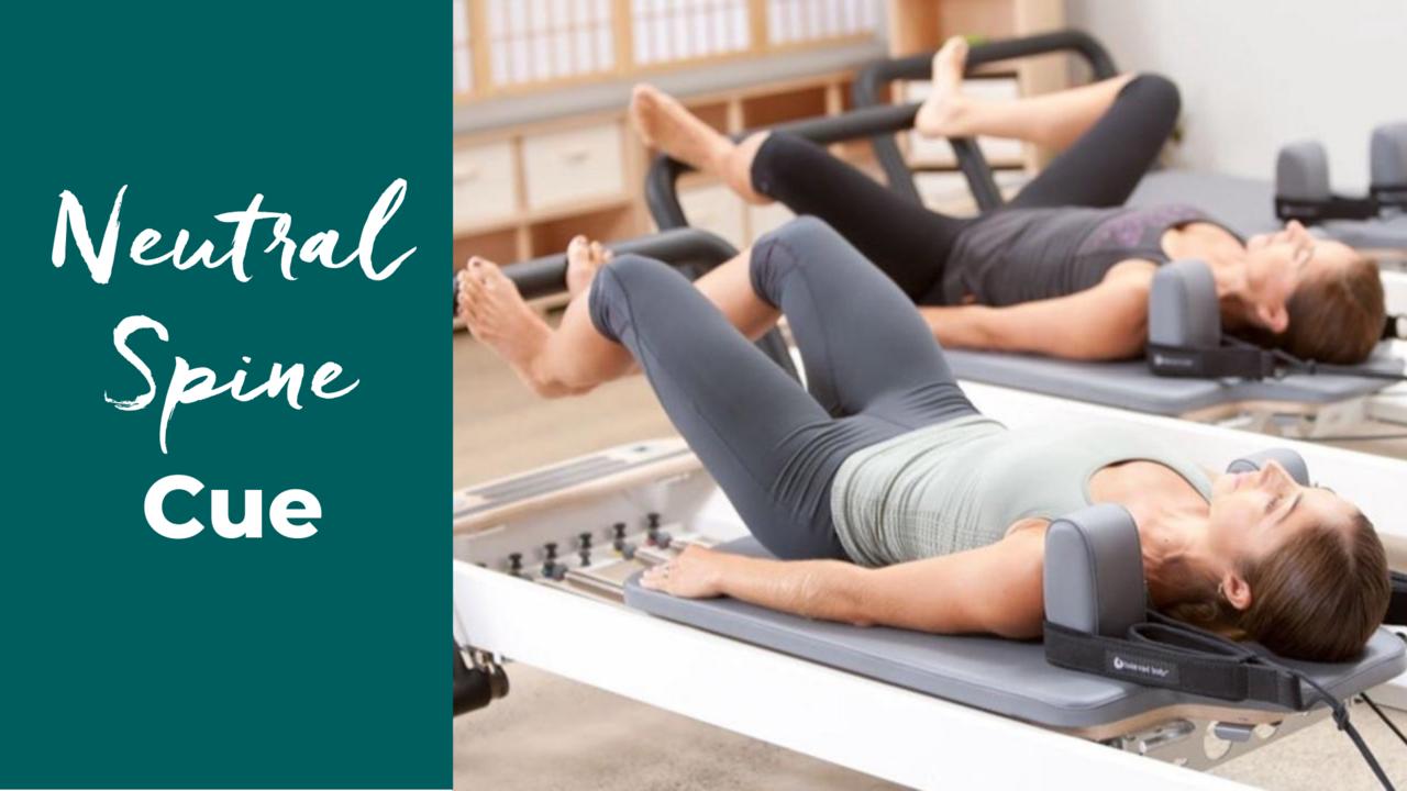 Cue Neutral Spine in Pilates Reformer Footwork