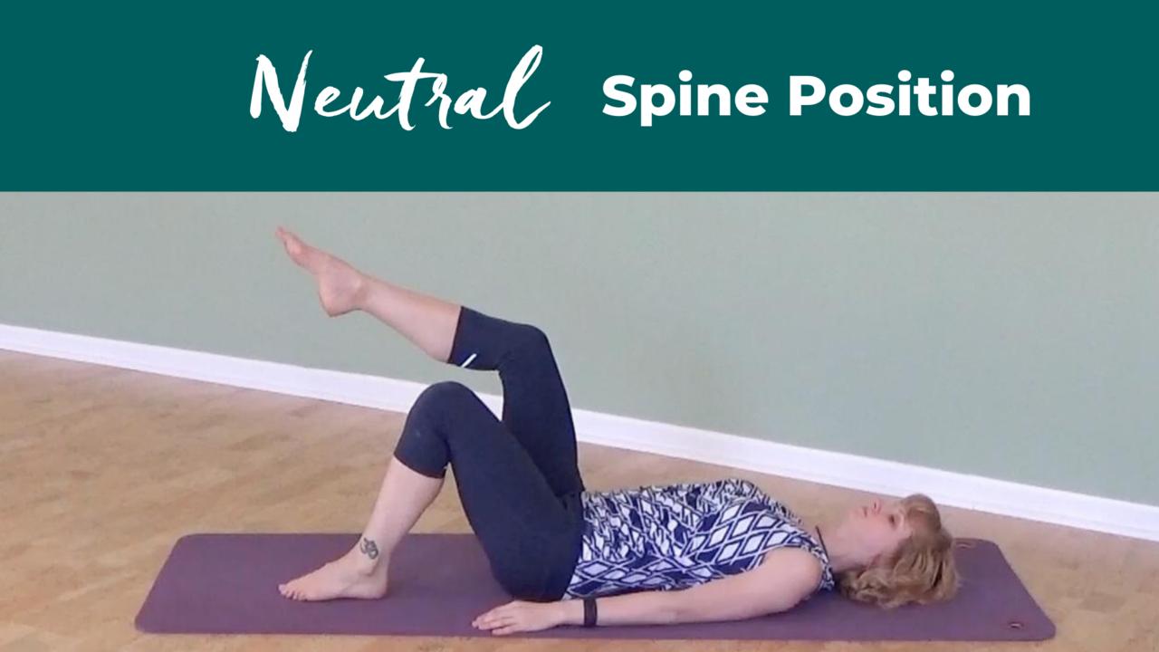 Pilates Neutral Spine Position