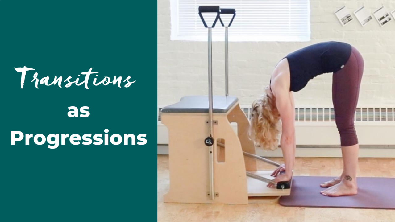Pilates transition is to maintain length in the spine during flexion