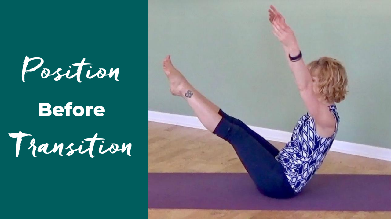 Position Before Transition in Pilates