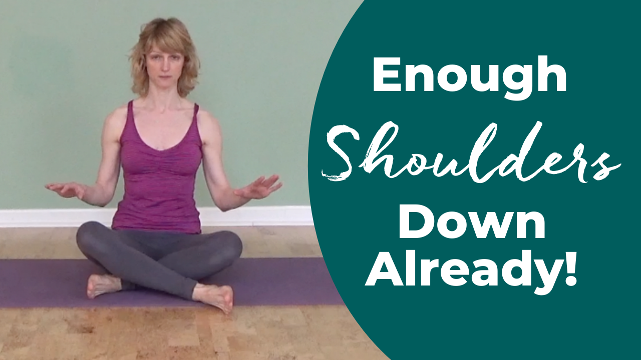 Pull shoulders away from the ears in Pilates