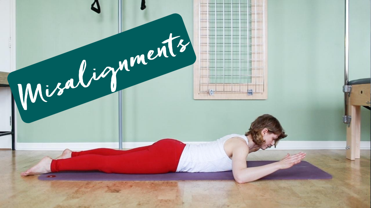 Pilates exercises that consider the two opposing sides of the joint during a misalignment