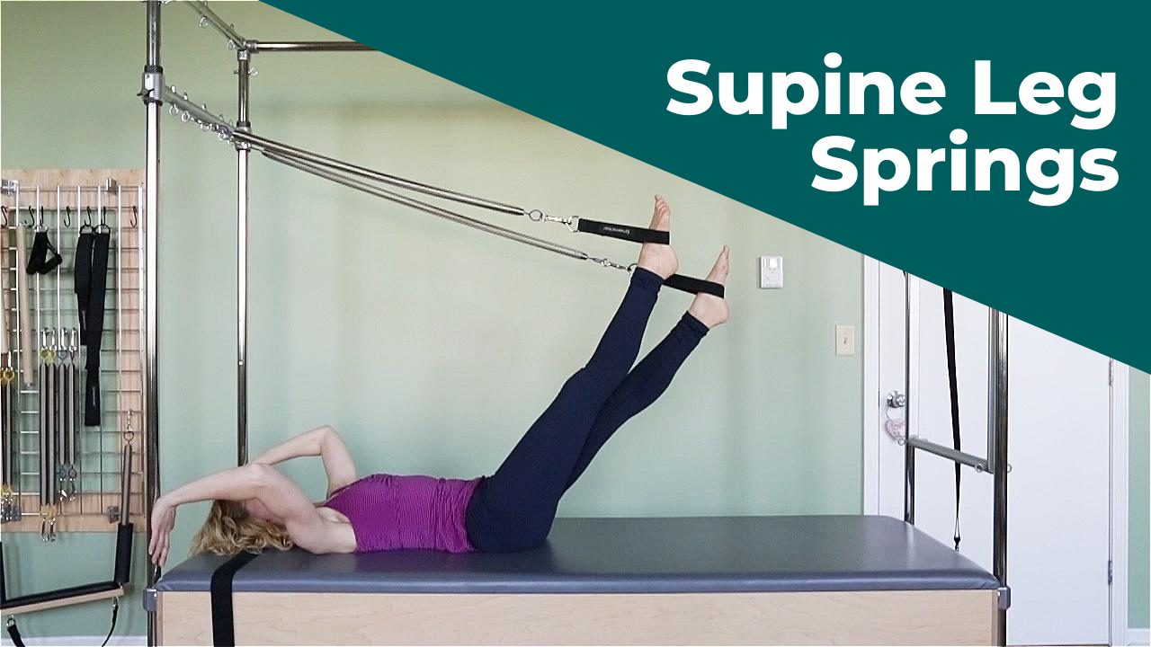Supine Leg Springs on the Pilates Trapeze Table