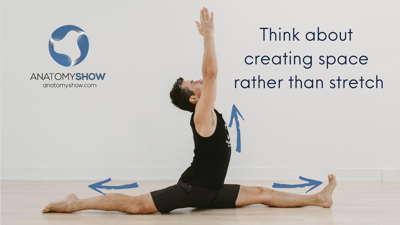 Front splits without low back pain. Hanumanasana yoga pose anatomy