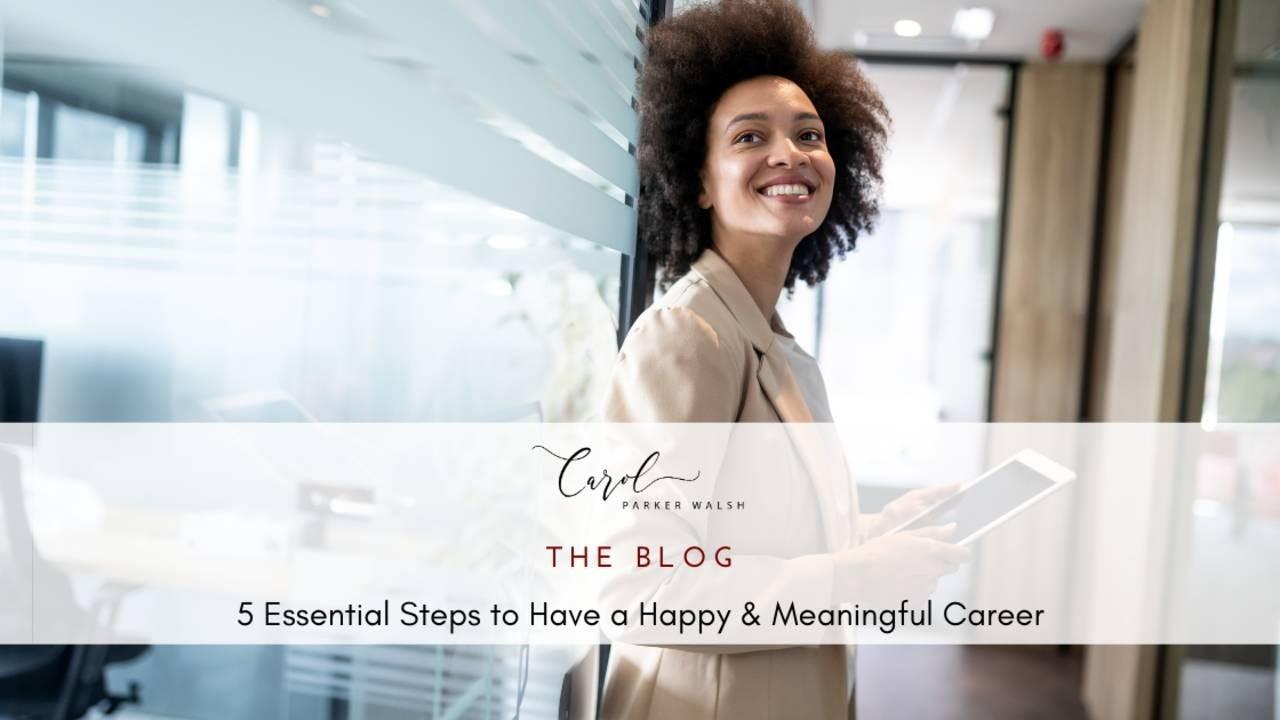 Black professional woman happy career