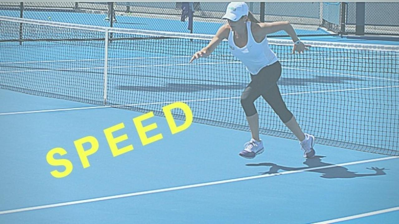 image of tennis speed training
