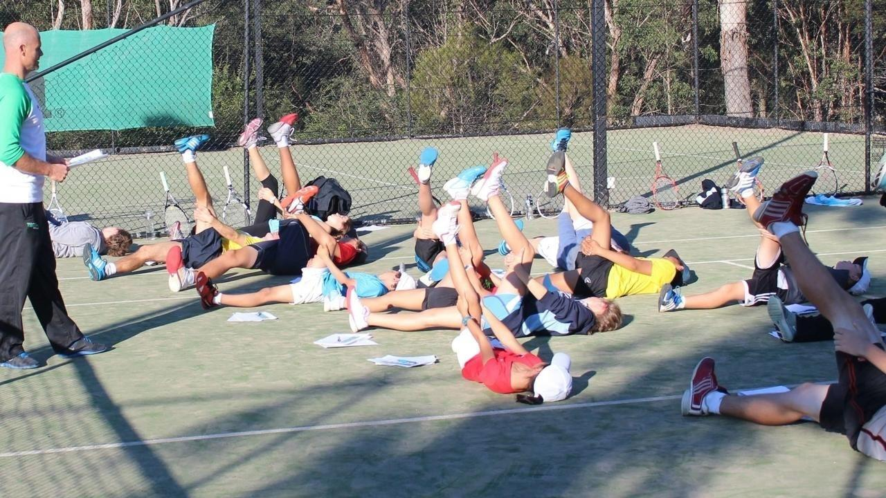 image of tennis cool down routine