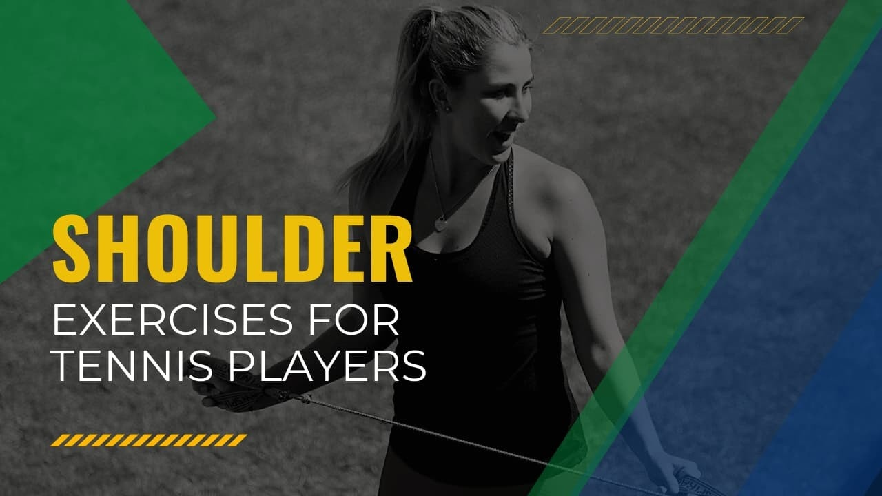 image of shoulder exercise for tennis players