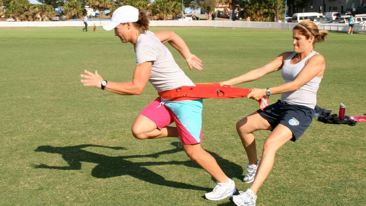 Image of tennis player training. Workouts for tennis.