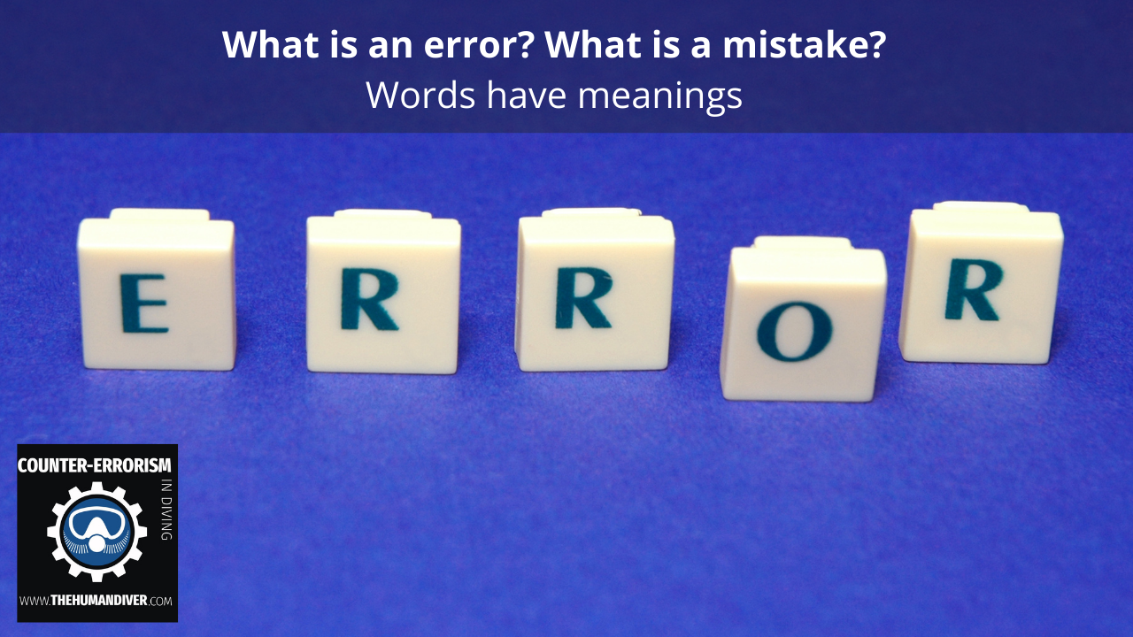 What is an error What is a mistake
