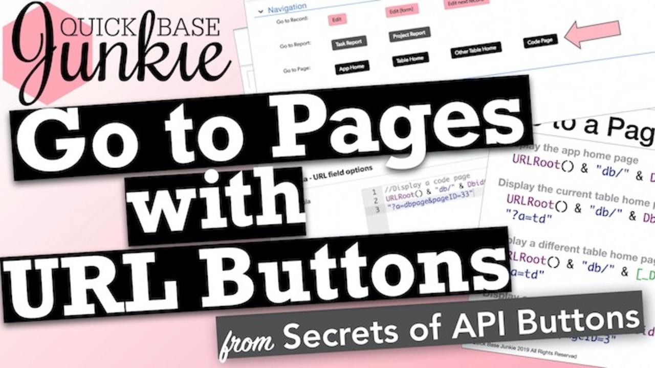 How to add page navigation buttons to Quickbase
