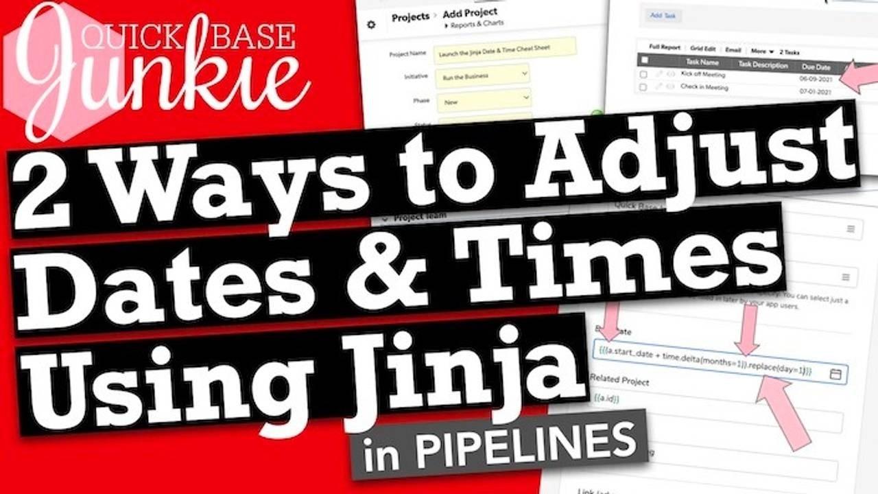 2 Ways to adjust dates in Pipelines using Jinja