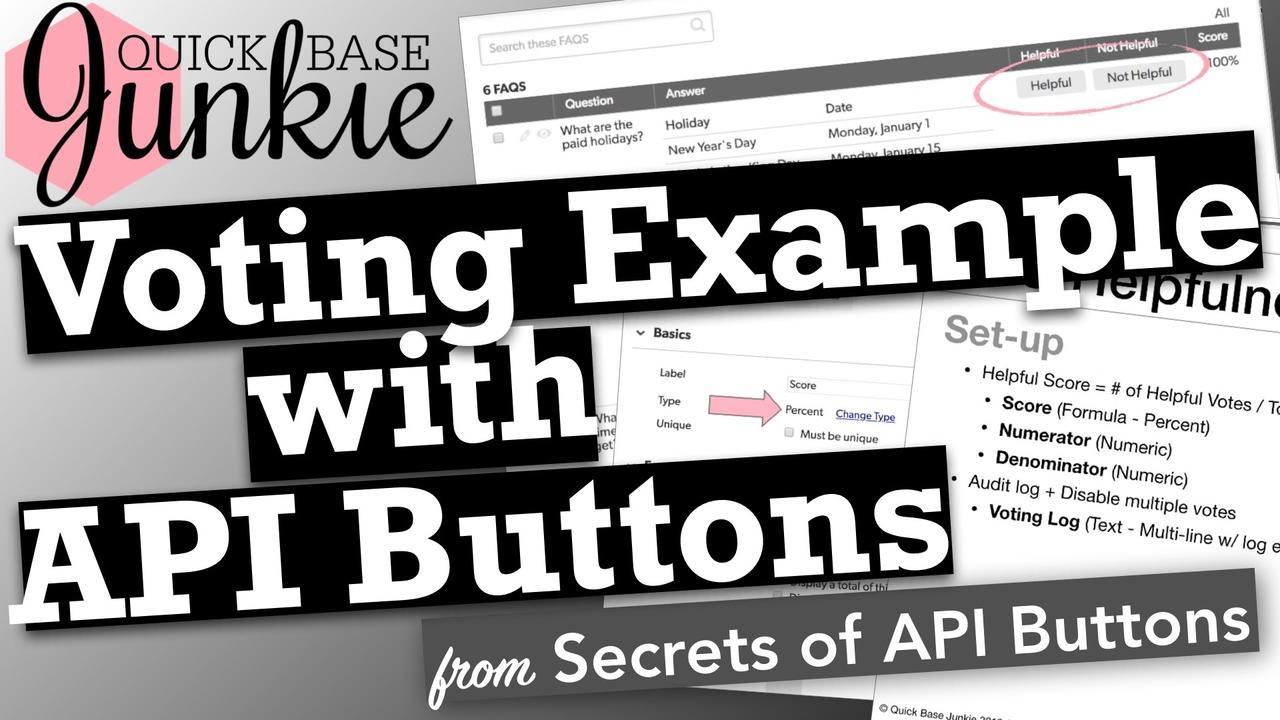 Voting Example with API Buttons in Quickbase