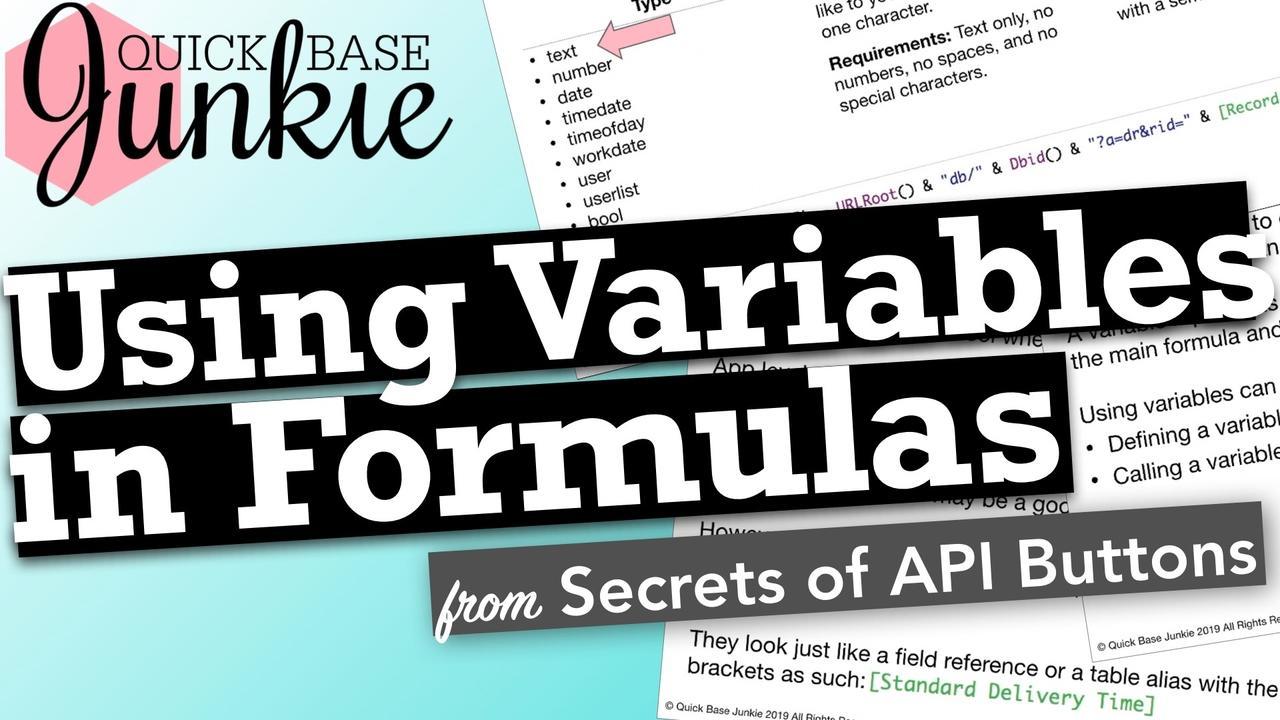 Using Variables in Formulas in Quickbase