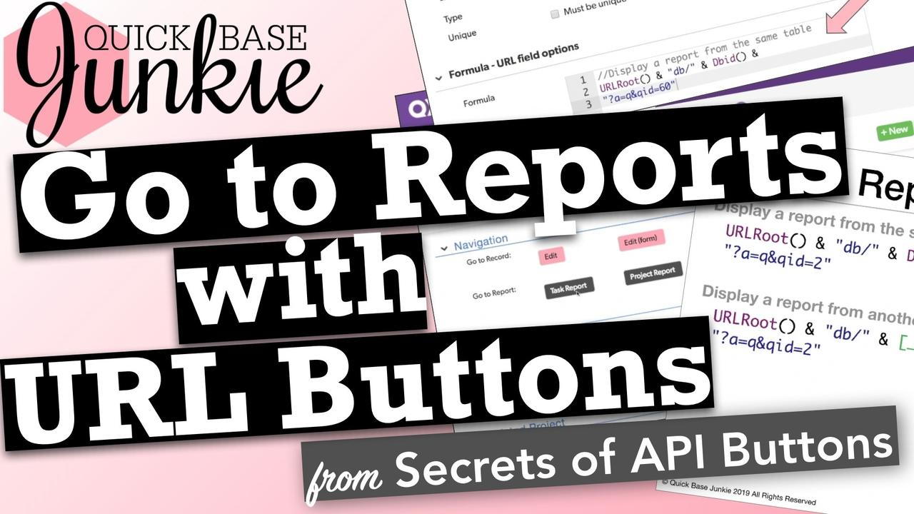 How to add report navigation buttons to Quickbase