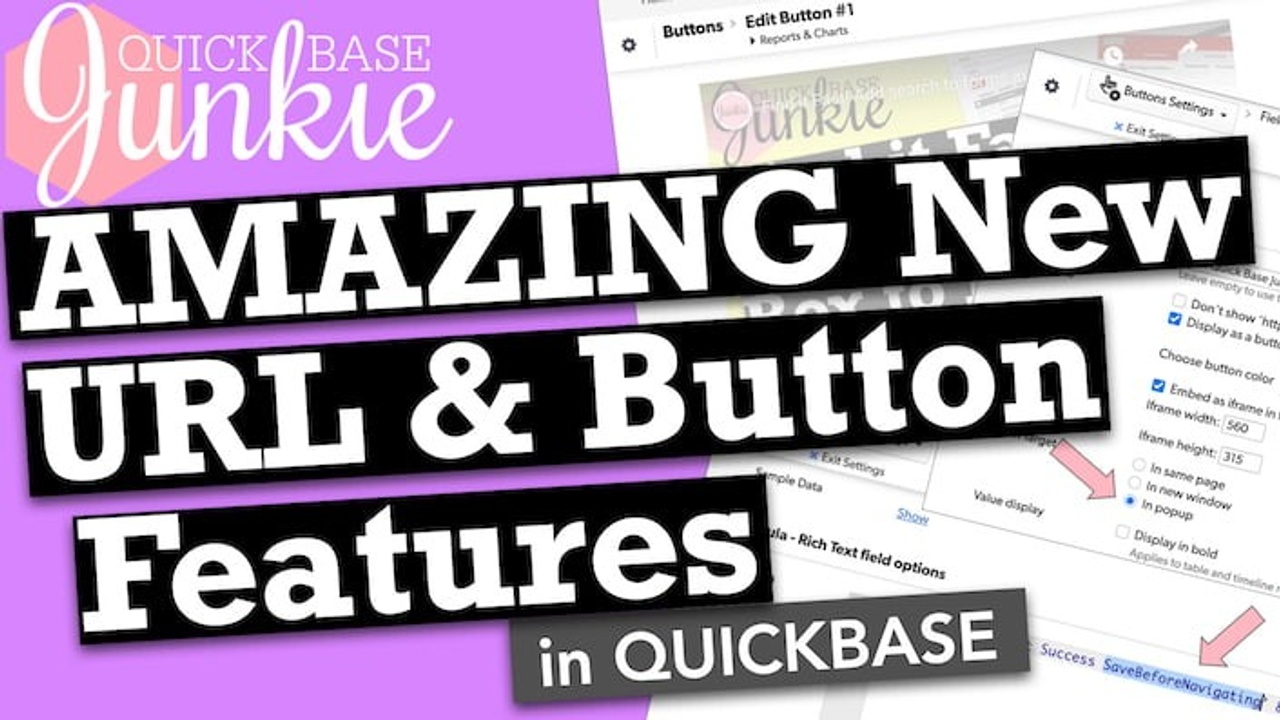Add a pop-up, iframe, or 'save before' to buttons in Quickbase